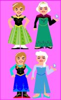 Minivector of Frozen Sisters in Dress Samples by ESPIOARTWORK-102
