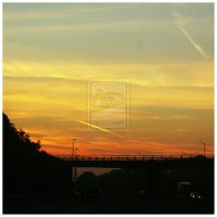 Sunset over the A20 by norahomey