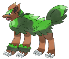 Collaboration Fakemon Wolfern by Phatmon66