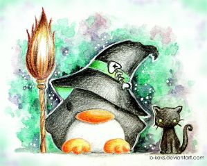 Witch Penguin by B-Keks