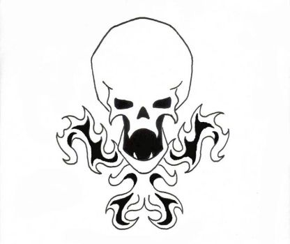 Skull Design DOS by Lunatiger