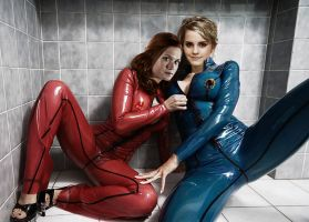 Hermione And Ginny In Latex by SirStunsalot