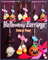Halloween Earrings by olamo