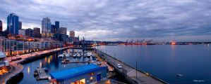 Bell St. Panorama + Great Wheel by UrbanRural-Photo