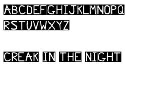 Creak in the Night Font by darnfancylettuce