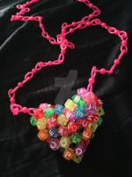 3d kandi heart necklace by BBEEAARR