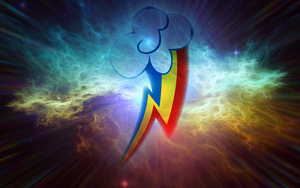 Rainbow Dash Space Clouds Wallpaper by PinkiePizzles