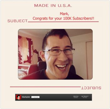 Markiplier 100k subs by MangaGirl232