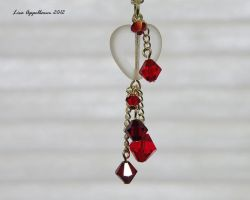 Valentine's Heart with Swarovski Dangles by Cillana