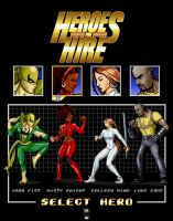 16bit Heroes for Hire by steevinlove