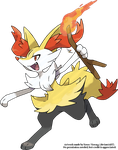 Braixen by Xous54
