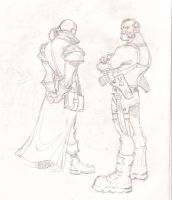 Inquisitor and Bodyguard by Samuca