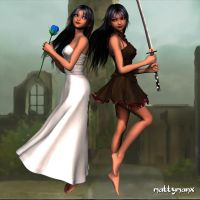 Sisters4  The Two Queens by mattymanx