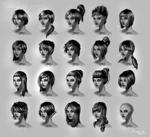 Omuni Online: Female hair by Baranha