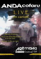 LIVE on canvas poster by ArtAnda
