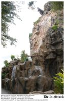 Rainforest Cafe Waterfall.4 by Della-Stock