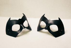 Black Comic Hero or Villian - leather masks by nondecaf