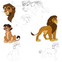 My Lion Characters by Emo-Hellion