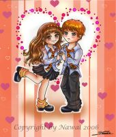 Hermione and Ron-Valentine by Nawal
