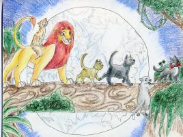 Lion King and friends by La-gato-negro
