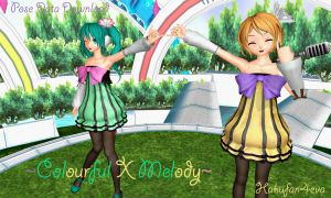 MMD Project Diva Colourful X Melody +DL by hakufan4eva
