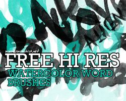 FREE HIRES WATERCOLOR BRUSHES3 by zerofiction