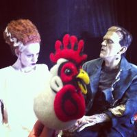 Felted Chicken Halloween! by AlwaysSuagarCoated