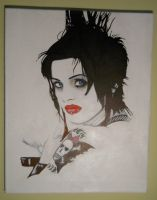 Brody Dalle spinerette the distellers punk rock se by bartelnathaniel