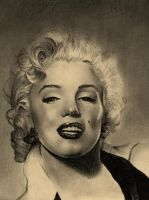 Marilyn Monroe - portrait by Trent Valleau by TrentV