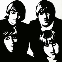The Beatles Scratchboard by Conversen