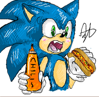 iScribble - Sonic OM NOM NOM by BlueNeedle-Inu