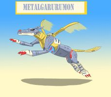 Metalgarurumon by Louisetheanimator