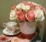 Bouquet of Roses with MatchingTeacups Stock by Sakura060277