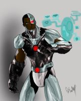 H.O.T. Injustice Art Contest: Cyborg by Omegalamda7