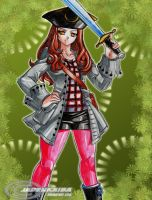 Commission: Pirate Amy Pond by jadenkaiba