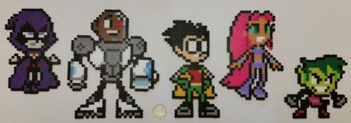 Teen Titans Go Perlers by jrfromdallas