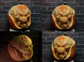 Pumpkinhead pumpkin carving by Cissell