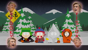 South Park Classic Bus Stop - Halloween Edition by ElAdministrador