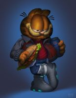 Garfield Back to the Future by edsfox