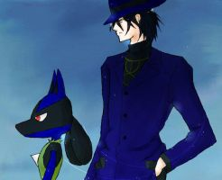 Gen and Lucario by glaringdream1030