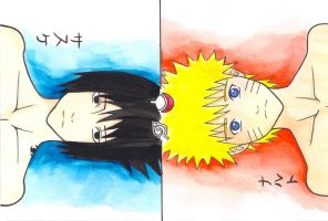Sasuke and Naruto by Azul0blue0sky