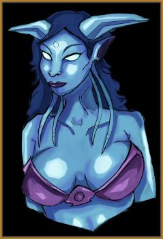 Draenei Digital Art Practice by ScarecrowofQC