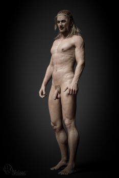 Male nude portrait by HiQ-Visions