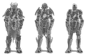 Knight Armor Sketches by psypher101
