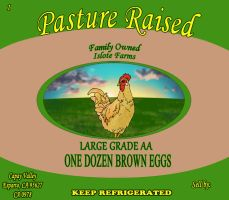 Newish Islote Egg Label by ChaxxInClockwork