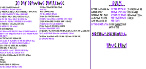 30 Day Drawing Challenge by BunnyGaming