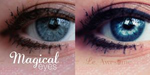 Magical eyes tutorial by EliseEnchanted