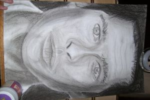 Brad Pitt Charcoal by RytheArtist