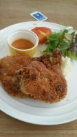 Spicy Crusted Chicken Legs with Mashed Potatoes by nosugarjustanger