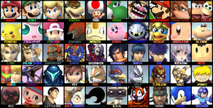 OLD SSBWiiU Roster by KingDor65